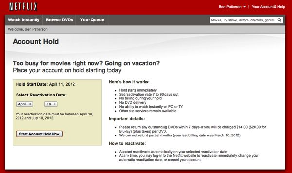 how to cancel netfix accoutn