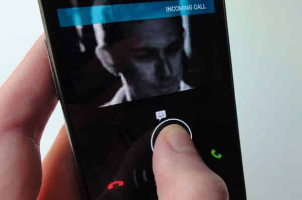 Decline a call with a text message