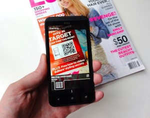 Scanning a QR code with an Android phone 300x235 What are QR codes, and what are they for? (reader mail)
