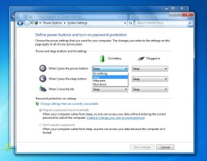 Windows Power button settings 300x233 Windows tip: How to take charge of the Power button