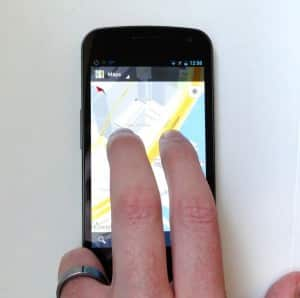 Using two fingers to tilt Google Maps for Android