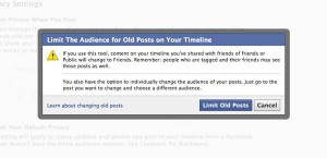 Limit the audience for old Facebook posts settings