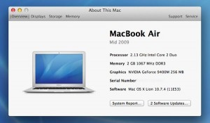 About This Mac window 300x175 3 things to do before installing Mountain Lion on your Mac