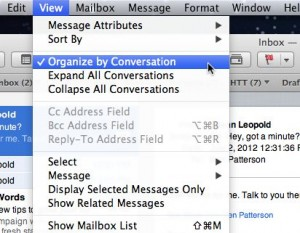 Mac Mail conversation settings