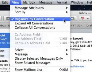 Mac Mail conversation settings