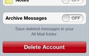 Archive Messages setting on iPhone