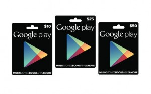 Google Play gift cards 300x186 How to gift an Android, iPhone, or iPad app