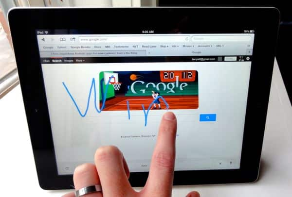 Google tip: Got a smartphone or tablet? Try handwriting for your next search