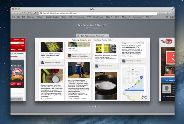 "Mac ""Mountain Lion"" tip: Click or pinch to see your tabbed web pages"