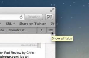 Safari Show All Tabs button