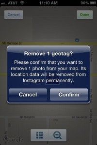 Wipe a photo of your Instagram Photo Map 200x300 6 must know privacy tips for Instagram newbies