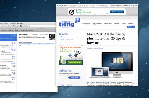 How to get a preview of a web page in Mac Mail