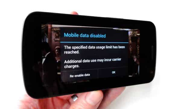 How to set a hard data limit on an Android phone