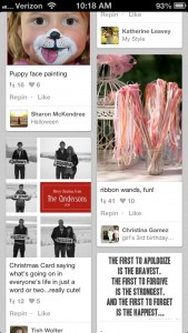 Pinterest app for iPhone 5