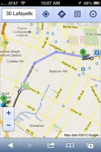 Public transit directions in Google Maps for mobile web