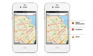 Real-time traffic alerts in iOS 6
