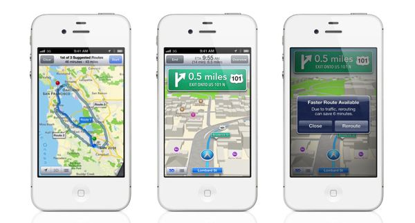 Turn-by-turn directions in iOS 6