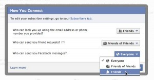 Facebook How You Connect privacy settings