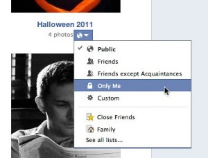 Facebook photo album privacy settings