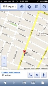 Google Maps for iPhone with Street View button