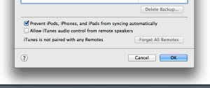 iTunes sync settings 300x126 How do I keep my iPad from syncing automatically with iTunes? (reader mail)
