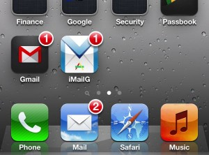 Gmail and iMailG for iPhone