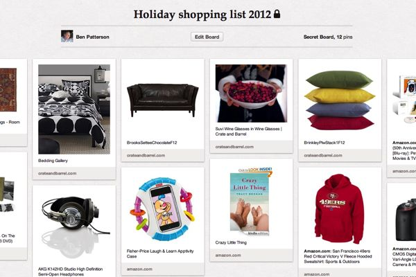 Pinterest tip: How to create a secret shopping board