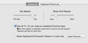 Mac function keys settings