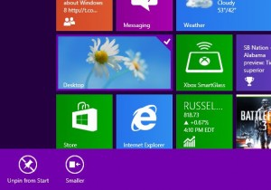 Windows 8 resize Start tiles