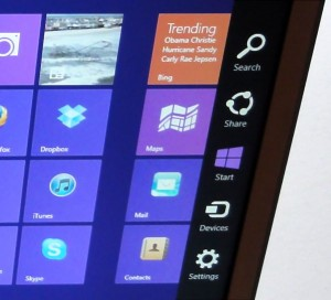 Windows 8 right-side screen icons