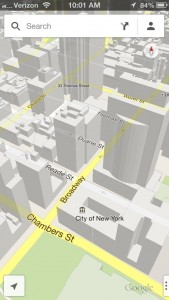 3D buildings on Google Maps for iPhone