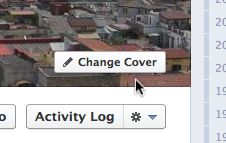 Change cover photo on Facebook Timeline