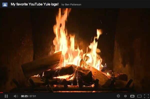 YouTube tip: Create your own Yule log video playlist
