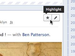 Highlight a Facebook Timeline story