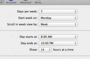 Mac Calendar settings