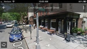 Street View on Google Maps for iPhone