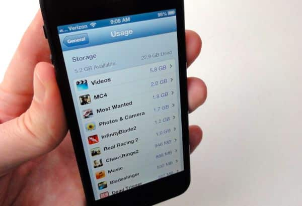 Find out what is hogging your iPhone storage space
