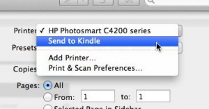 Send to Kindle from Mac Print menu