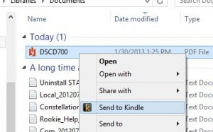 Send to Kindle from Windows Explorer