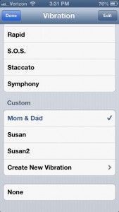 iPhone custom vibration settings 169x300 iPhone tip: Create custom vibrations for your contacts