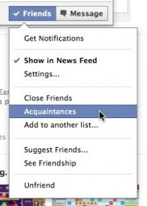 Facebook Acquaintances list 214x300 3 ways to unfriend a Facebook friend without really unfriending them