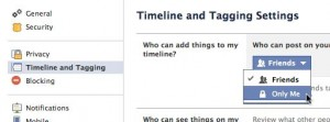 Facebook timeline who can post settings