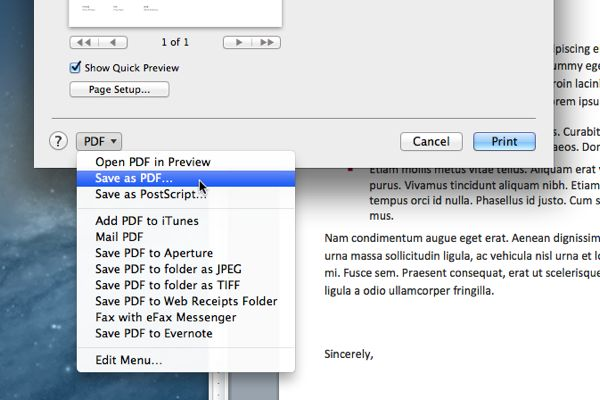 Mac/Windows tip: Turn any printable document or web page into a PDF (reader mail)