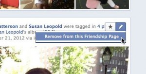 Removing a story from a Facebook friendship page