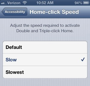 iPhone home click speed setting 300x285 iPhone tip: Make it easier to double click the Home key