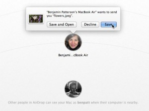 Airdrop confirmation dialog 300x223 Mac tip: Share files between nearby Macs with AirDrop