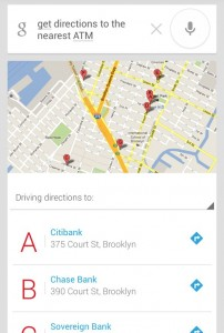 Android Voice Actions get directions