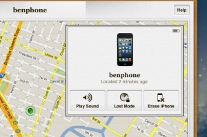 Find my iPhone map page