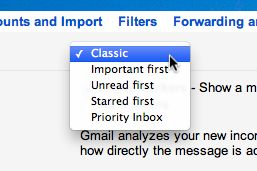 Gmail classic inbox