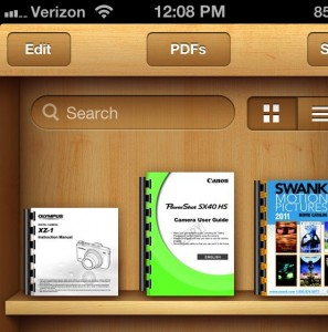 PDFs saved in iBooks